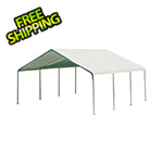 "ShelterLogic 18x20 Canopy with 2"" 8-Leg Frame (White Cover)"