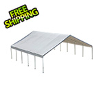 "ShelterLogic 30x30 Canopy with 2-3/8"" 12-Leg Frame (White Cover)"