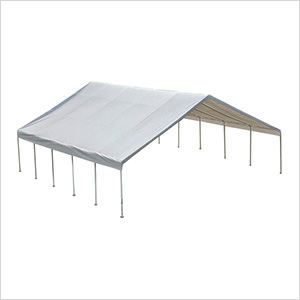 """30x30 Canopy with 2-3/8"""" 12-Leg Frame (White Cover)"""