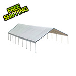 "ShelterLogic 30x50 Canopy with 2-3/8"" 16-Leg Frame (White Cover)"