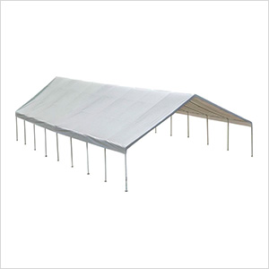 """30x50 Canopy with 2-3/8"""" 16-Leg Frame (White Cover)"""