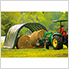 12x20x8 Round Style Run-In Shelter (Green Cover)