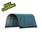ShelterLogic 12x20x10 Round Style Run-In Shelter (Green Cover)