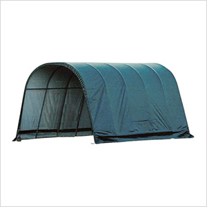 12x20x10 Round Style Run-In Shelter (Green Cover)
