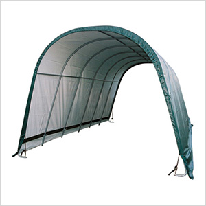 12x24x10 Round Style Run-In Shelter (Green Cover)
