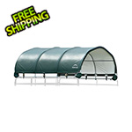 "ShelterLogic 12x12 Corral Shelter with 1-3/8"" Steel Frame (Green Cover)"