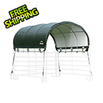 "ShelterLogic 10x10 Corral Shelter with 1-3/8"" Steel Frame (Green Cover)"