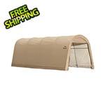 """ShelterLogic 10x20 Round Style Auto Shelter 1-3/8"""" Frame (Sandstone Cover)"""