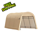 "ShelterLogic 10x15 Round Auto Shelter 1-3/8"" Frame (Sandstone Cover)"
