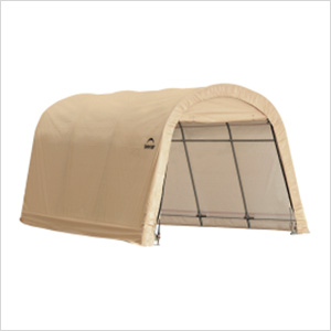"10x15 Round Auto Shelter 1-3/8"" Frame (Sandstone Cover)"