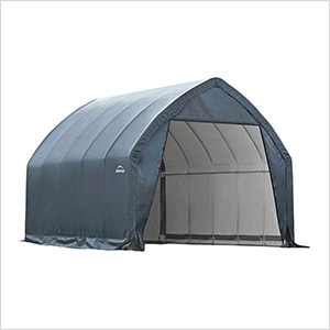 """Garage-In-A-Box 13×20 SUV/Truck Shelter with 1-5/8"""" Frame (Grey Cover)"""