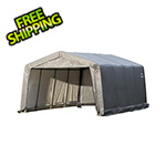 "ShelterLogic Garage-In-A-Box 12x16 Shelter with 1-3/8"" (Gray Cover)"