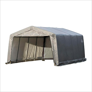 "Garage-In-A-Box 12x16 Shelter with 1-3/8"" (Gray Cover)"