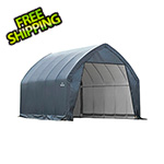 ShelterLogic Garage-In-A-Box 11×20 SUV/Small Truck Shelter (Grey Cover)