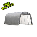 "ShelterLogic Garage-In-A-Box 12x20 Shelter with 1-3/8"" (Gray Cover)"