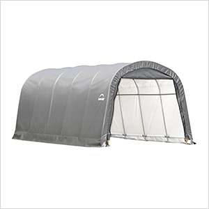 "Garage-In-A-Box 12x20 Shelter with 1-3/8"" (Gray Cover)"