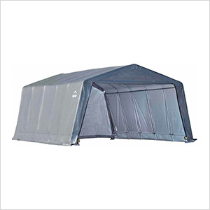 """Garage-In-A-Box 12x20 Shelter with 1-3/8"""" (Gray Cover)"""