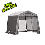"ShelterLogic 10x10 Shed-In-A-Box with 1-3/8"" Frame (Gray Cover)"