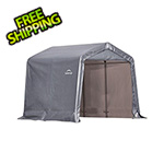 "ShelterLogic 8x8 Shed-In-A-Box with 1-3/8"" Frame (Gray Cover)"