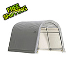 "ShelterLogic 10x10 Round Shed-In-A-Box with 1-3/8"" Frame (Gray Cover)"