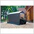 "10x10 Round Shed-In-A-Box with 1-3/8"" Frame (Gray Cover)"