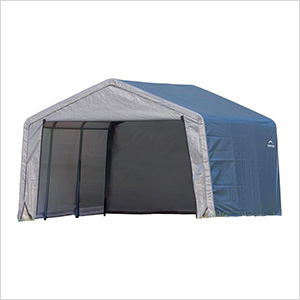 """12x12 Shed-In-A-Box with 1-3/8"""" Frame (Gray Cover)"""