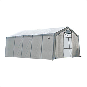 """12x20 Heavy Duty Translucent Greenhouse with Arch Style 1-5/8"""" Frame"""
