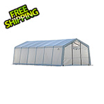 "ShelterLogic 12x24 Heavy Duty Translucent Greenhouse with Arch Style 1-5/8"" Frame"
