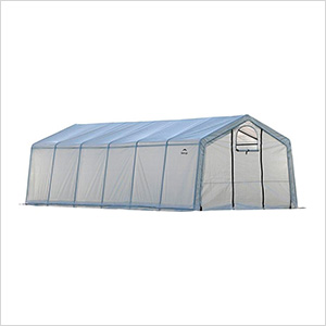 "12x24 Heavy Duty Translucent Greenhouse with Arch Style 1-5/8"" Frame"