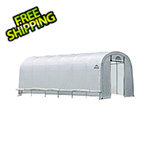 "ShelterLogic 12x20 Heavy Duty Translucent Greenhouse with Round Style 1-5/8"" Frame"