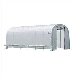"12x20 Heavy Duty Translucent Greenhouse with Round Style 1-5/8"" Frame"