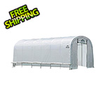 "ShelterLogic 12x24 Heavy Duty Translucent Greenhouse with Round Style 1-5/8"" Frame"