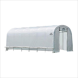 """12x24 Heavy Duty Translucent Greenhouse with Round Style 1-5/8"""" Frame"""