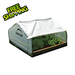 ShelterLogic 4x4 GrowIt Round Raised Bed Greenhouse with Roll-Up Cover