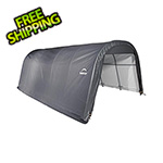 ShelterLogic 12x20x8 ShelterCoat Round Style Shelter (Gray Cover)