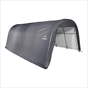 12x20x8 ShelterCoat Round Style Shelter (Gray Cover)