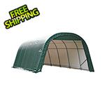 ShelterLogic 12x20x8 ShelterCoat Round Style Shelter (Green Cover)