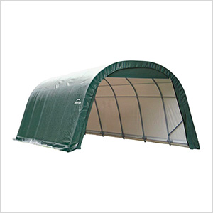 12x20x8 ShelterCoat Round Style Shelter (Green Cover)