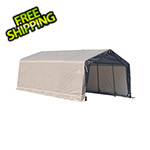 ShelterLogic 12x20x8 ShelterCoat Peak Style Shelter (Gray Cover)