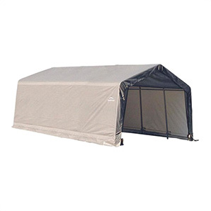 12x20x8 Sheltercoat Peak Style Shelter (gray Cover)