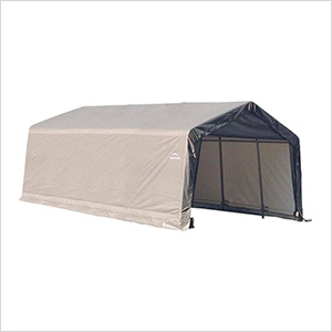 12x20x8 ShelterCoat Peak Style Shelter (Gray Cover)