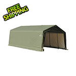 ShelterLogic 12x20x8 ShelterCoat Peak Style Shelter (Green Cover)