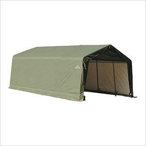 12x20x8 ShelterCoat Peak Style Shelter (Green Cover)