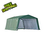 ShelterLogic 12x20x8 Peak Style Hay Storage Shelter (Green Cover)