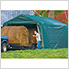 12x20x8 Peak Style Hay Storage Shelter (Green Cover)