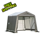 ShelterLogic 8x16x8 ShelterCoat Peak Style Shelter (Gray Cover)