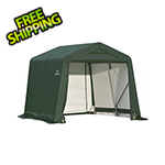 ShelterLogic 8x16x8 ShelterCoat Peak Style Shelter (Green Cover)