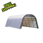 ShelterLogic 12x24x8 ShelterCoat Round Style Shelter (Gray Cover)