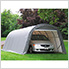 12x24x8 ShelterCoat Round Style Shelter (Gray Cover)