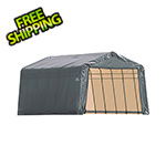 ShelterLogic 12x24x8 ShelterCoat Peak Style Shelter (Gray Cover)